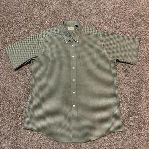LL Bean Short Sleeve Button Up Shirt L Plaid 0WT55